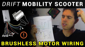 How to: ESC / <b>brushless</b> motor wiring - Drift Mobility Scooter + Drift ...