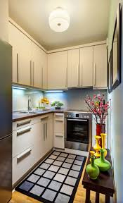 how to make kitchen cabinets:  tricks on how to make a small kitchen look bigger
