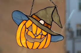 Art & Collectibles <b>Glass</b> Art Pumpkin in Black <b>Witch's</b> Hat Halloween ...