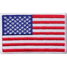 <b>USA Flag Embroidered</b> Iron/Sew On American <b>Patch</b> United States of...