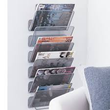 magazine rack wall mount: bathroom magazine holder bathroom magazine racks wall mounted