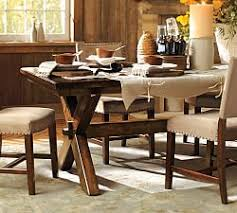 pottery barn style dining table:  toscana fixed dining table j