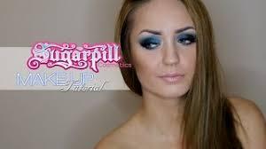 blue smoky eyes make up tutorial by grzee 2016