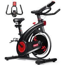 SuperFit Stationary <b>Exercise Bike</b> Silent <b>Belt</b> Drive Cycling Bike ...
