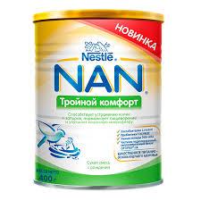 <b>Молочная смесь</b> Nestle <b>NAN Тройной</b> комфорт 400 гр №1