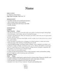 Sample Resume  Resume For Fresh Graduate Flight Attendant  happytom co