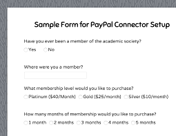 formassembly com forms sample form for paypal connector setup