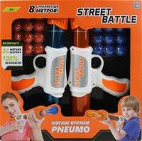«<b>Игрушечное оружие 1TOY</b> Street Battle с мягкими шариками (2 ...
