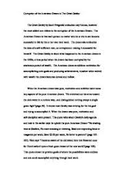 the great gatsby essay the american dream   padasuatu resume it    s    corruption of the american dream great gatsby gcse