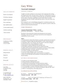 account manager cv example art director cv template management resume format