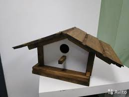 <b>Скворечник кормушка</b> для птиц ручной работы купить в Москве ...