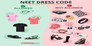 NEET <b>Dress</b> Code 2020 (Male & <b>Female</b>) - Instruction by NTA