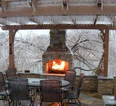 kitchen frame kits built charming outdoor kitchen fireplace designs with outdoor fire pit table