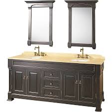 the bathroom vanity from costco with a width of 72 inch