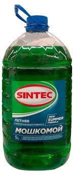 Купить <b>Жидкость</b> стеклоомывателя Sintec Мошкомой <b>летняя</b>, 5 л ...