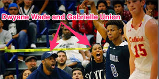 Dwyane Wade, Gabrielle Union at Bronny James, Zaire Wade HS ...