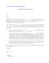best photos of sample termination letter template lease employment termination letter template