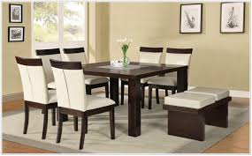 Square Kitchen Table With Bench Modern Square Dining Kitchen Table In Espresso Finish A