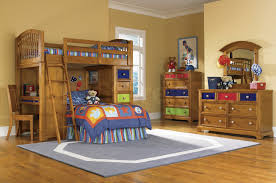 classic brown polished teak wood kids bunk bed with ladder and desk built in dresser with bunk bed dresser desk