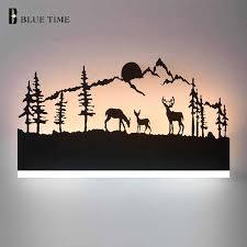 <b>Black</b> Acrylic <b>Modern LED</b> Wall Light For Living room Bedroom ...