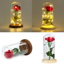 <b>Rose</b> Flower Fairy <b>String</b> Light Glass <b>LED</b> Light Wedding Home ...