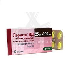Купить <b>Лориста НД</b> таблетки покрытые пленочной оболочкой 25 ...