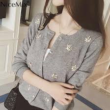<b>NiceMix</b> 2019 <b>Winter</b> Sweater Coats Women Slim Knitted Cardigan ...