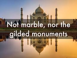 line by line meaning of sunrise on the hills by henry wadsworth not marble nor the gilded monuments analysis by william shakespeare