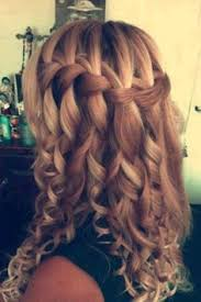 Image result for Model open chignon curls