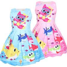 Baby Girl <b>Clothes</b> Baby <b>Shark</b> Princess Dresses Stage Show ...