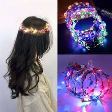 EVER FAIRY Party Glowing Wreath Colourful fuCrown <b>Flower</b> ...