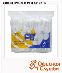 Ватные <b>палочки Bella 100шт</b> в пакете - купить по низкой цене