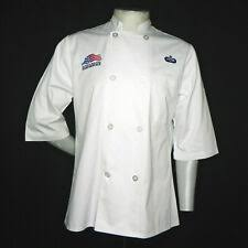 US Military Air Force USAF White Chef <b>Jacket</b> Medium <b>Food Service</b> ...