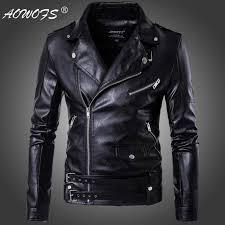 <b>2019 New design</b> Motorcycle Bomber Leather Jacket <b>Men</b> Autumn ...