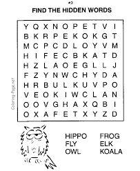 Small Picture 42 best Kids word search puzzles images on Pinterest Word
