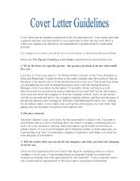 careerbuilder sample cover letter cover letter sample  cover