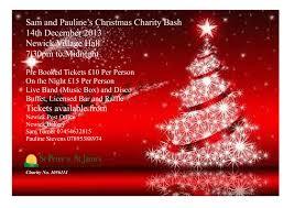 sam and pauline s christmas charity bash st peter st james sams christmas poster 001