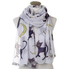 <b>WINFOX 2018 New</b> Fashion Oversized Soft White Cat Moon Long ...