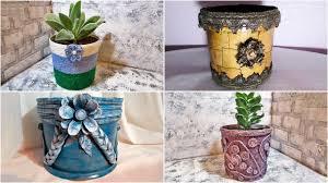 8 идей декора цветочных горшков или как сделать горшок для ...