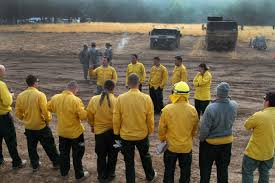 u s department of defense photo essay iers receive a morning brief at eel river conservation camp in redway calif