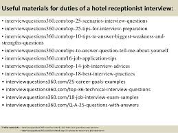 top duties of a hotel receptionist interview questions and answers  14 useful materials for duties of a hotel receptionist