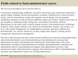 17 fields related to fund administrator fund administrator resume