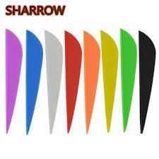 100pcs 3 Rubber Arrow Vanes Fletches Feather Fletching DIY Tools ...