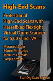 Review and comparison of large format scanners, partly including a ...
