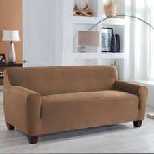 Perfect Fit® Stretch Fit <b>Microsuede Sofa Slipcover</b> | Bed Bath ...