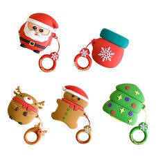 Cartoon Merry <b>Christmas Headphones Cover for</b> Airpods Santa ...