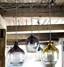 eclectic hand blown glass pendant lights blown glass pendant lights