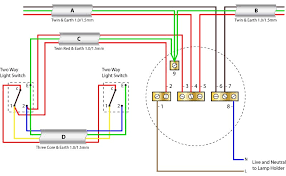 2 way switching ceiling rose wiring diagrams ceiling rose wiring two wat switching using the older cable colours