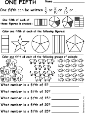 Fractions - Lessons - TES TeachFraction Worksheets and Books to Print - EnchantedLearning.com