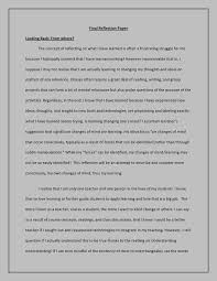 reflection essays sample  example of self reflection essay template Example Resume And Cover Letter
